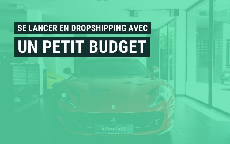 demarrer dropshipping petit budget